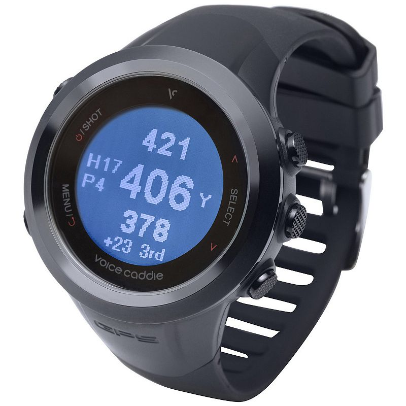 Voice Caddie T2 Hybrid Golf Watch, Black