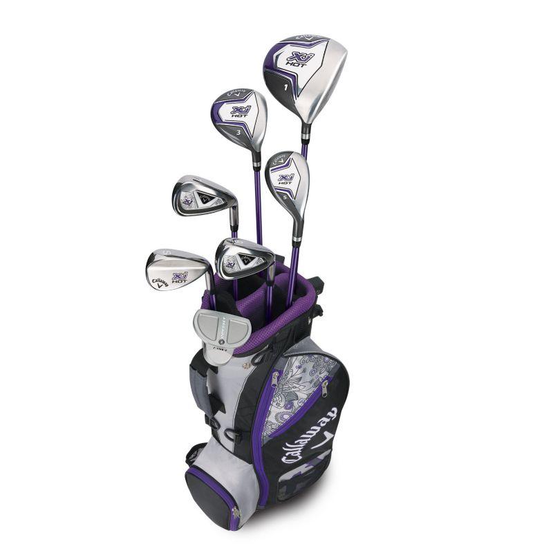 Girls 5-8 Callaway XJ Hot Flex Left Hand Golf Club & Stand Bag Set, Black thumbnail