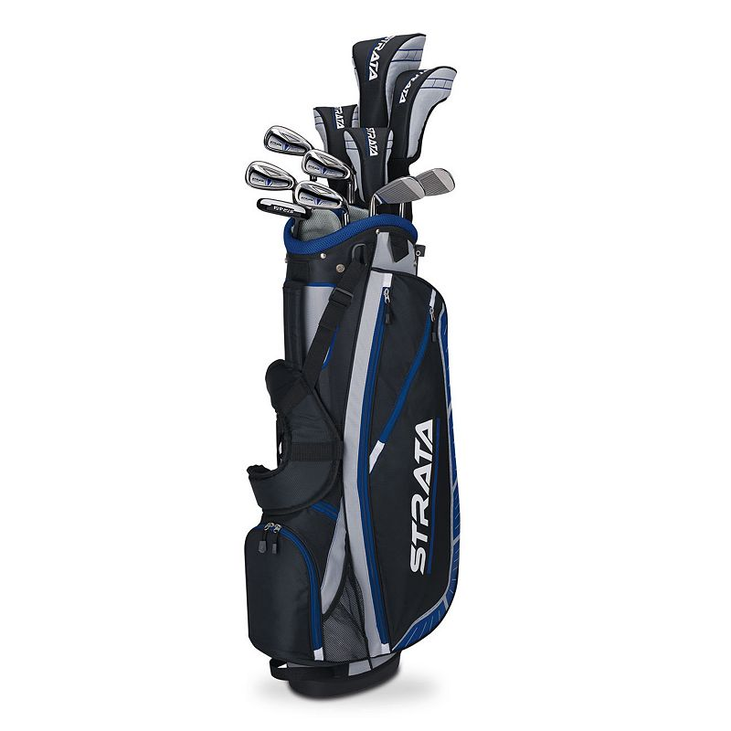 Men's Callaway 2015 Strata Plus Flex Left Hand Golf Clubs & Stand Bag Set, Black