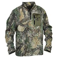 Men's True Timber Camo Quarter-Zip Fleece Pullover