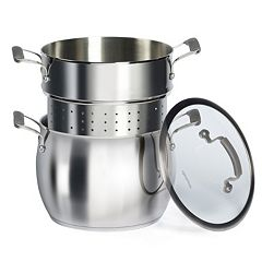 Epicurious 10-qt. Stainless Steel Pasta Cooker