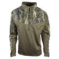 Men's True Timber Colorblock Camo Fleece Quarter-Zip Vest