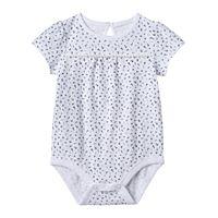 Baby Girl Jumping Beans® Print Slubbed Bodysuit