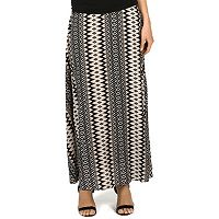 Women's Larry Levine Print Maxi Skirt