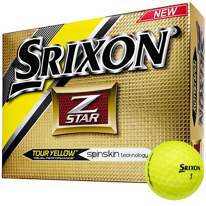 Srixon 2016 Z-Star Golf Balls, Yellow