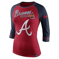 Women's Nike Atlanta Braves Raglan Tee