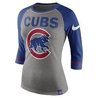 Women's Nike Chicago Cubs Raglan Tee