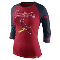 Women's Nike St. Louis Cardinals Raglan Tee