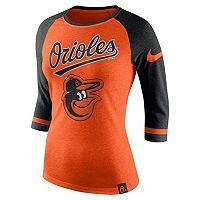 Women's Nike Baltimore Orioles Raglan Tee