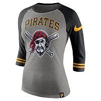 Women's Nike Pittsburgh Pirates Raglan Tee