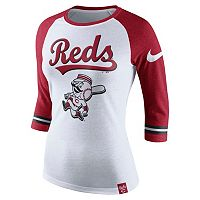 Women's Nike Cincinnati Reds Raglan Tee