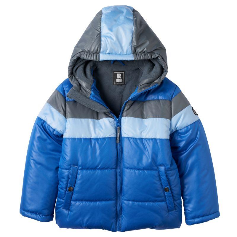 Boys 4-7 Rothschild Colorblocked Hooded Fleece-Lined Puffer Jacket, Boy's, Size: 4, Med Blue