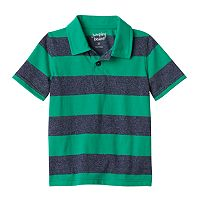 Toddler Boy Jumping Beans® Short Sleeve Striped Polo