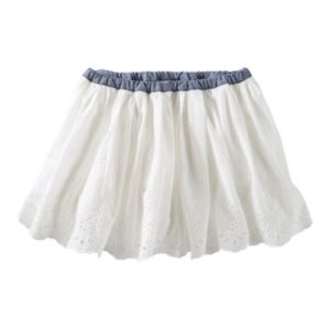 Girls 4-8 OshKosh B'gosh® Chambray Waist Eyelet Skirt