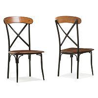 Baxton Studio Broxburn Dining Chair 2-piece Set