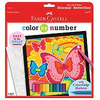 Faber-Castell Bloomin' Butterflies Color By Number Kit