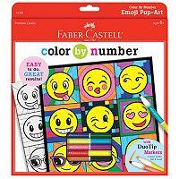 Faber-Castell Emoji Pop-Art Color By Number Kit