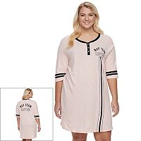 Juniors' Plus Size SO® Pajamas: Football Sleep Shirt