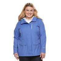 Plus Size Free Country Radiance Hooded Rain Jacket