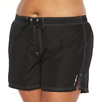 Plus Size ZeroXposur Solid Board Shorts