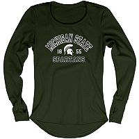 Women's Blue 84 Michigan State Spartans Thermal Long Sleeve Shirt