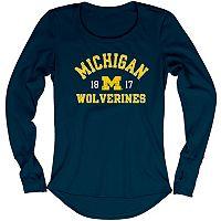 Women's Blue 84 Michigan Wolverines Thermal Long Sleeve Shirt