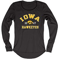 Women's Blue 84 Iowa Hawkeyes Thermal Long Sleeve Shirt