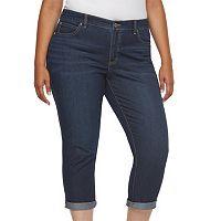 Plus Size Jennifer Lopez Roll Cuff Capri Jeans