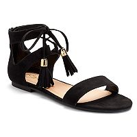 Candie's® Women's Lace-Up Tassel Sandals