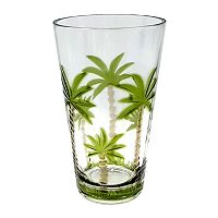 Celebrate Summer Together Palm Tree Acrylic Highball Glass