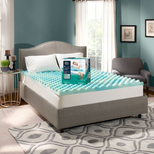 Serta CustomWave 2 5 inch Gel Memory Foam Mattress Topper