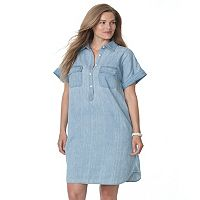 Plus Size Chaps Jean Shirtdress