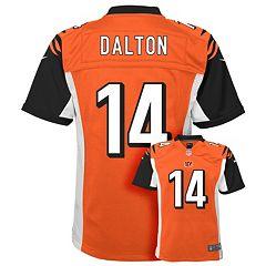 Women Cincinnati Bengals 14 Andy Dalton Orange jersey