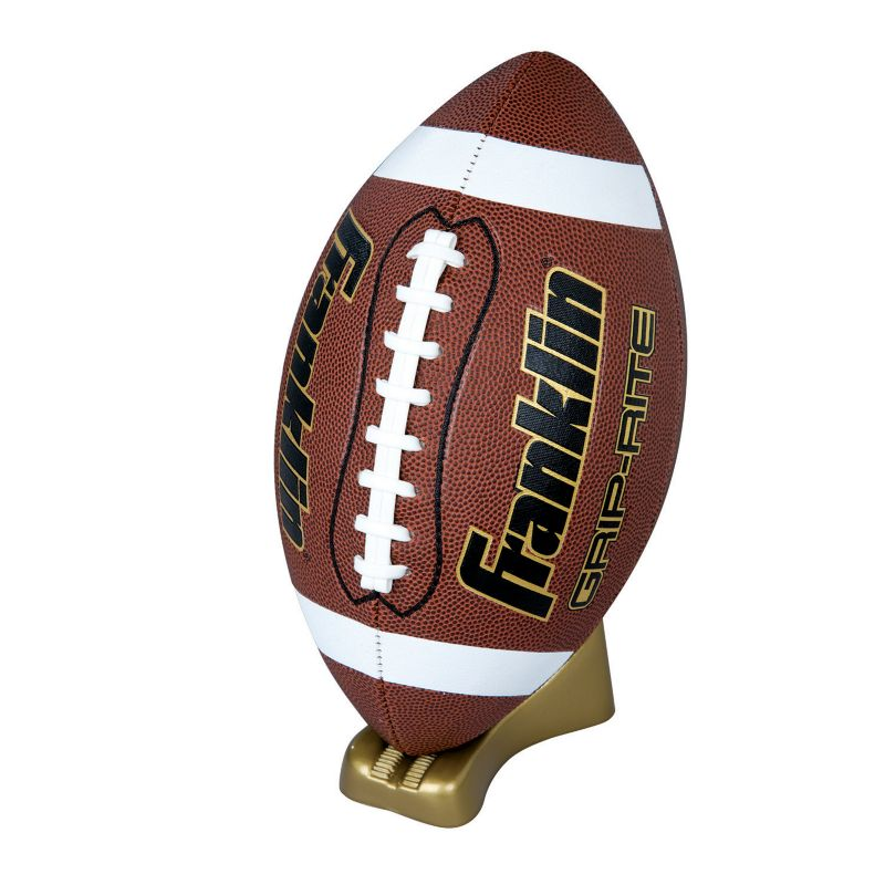 Youth Franklin Sports Official Grip-Rite Pump & Tee Football Set, Brown thumbnail
