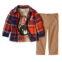 Boys 4-7 Boyzwear Plaid Flannel Shirt,