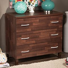 Baxton Studio Maison 3-Drawer Dresser by