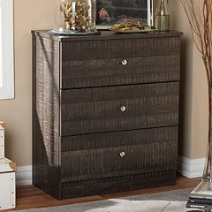 Baxton Studio Decon 3-Drawer Chest by