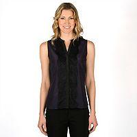 Women's Larry Levine Button-Front Blouse