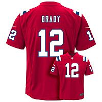 Boys 8-20 Nike New England Patriots Tom Brady Game NFL Replica Jersey