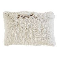 M. Kennedy Home Faux Fur Wedge Throw Pillow