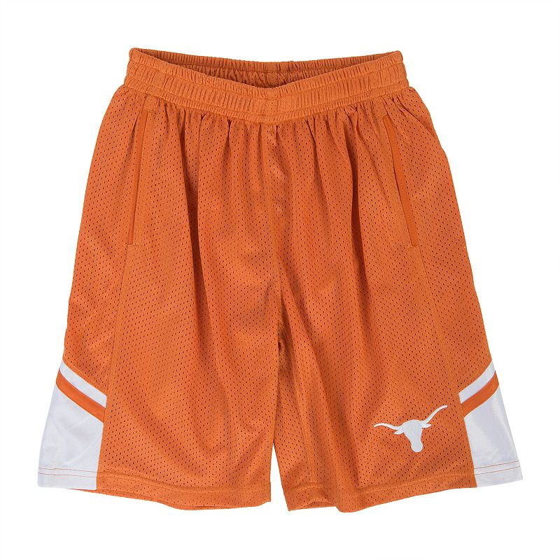 Boys 8-20 Texas Longhorns Bolton Shorts, Boy's, Size: Large, Orange