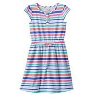 Girls 4-10 Jumping Beans® Patterned Henley Dress
