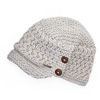 Women's Chaos Ripple Wool Buttoned Cadet Hat