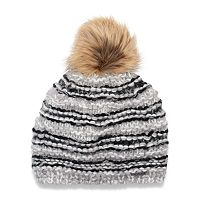 Women's Chaos Misty Striped Pom Pom Beanie