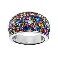 Confetti Multicolor Crystal Dome Ring