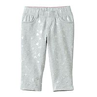 Toddler Girl Jumping Beans® Foil Heart Capri Jeggings