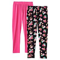 Girls 4-6x Freestyle Revolution 2-pk. Solid & Floral Leggings