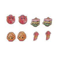 Girls Shopkins 2-pk. 4-Pair Stud Earring Set