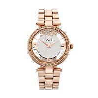 burgi Women's Crystal Floral Watch