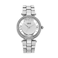 burgi Women's Crystal Floral Watch